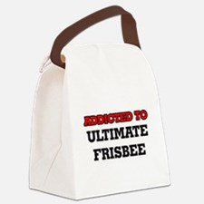 Addicted to Ultimate Frisbee Canvas Lunch Bag