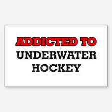 Addicted to Underwater Hockey Decal