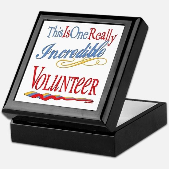 Incredible Volunteer Keepsake Box