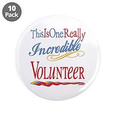 "Incredible Volunteer 3.5"" Button (10 pack)"