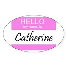 Catherine Oval Decal