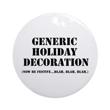 Generic Holiday Ornament (Round)