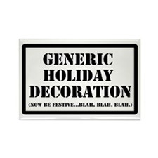 Generic Holiday Rectangle Magnet