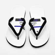 ca thin blue line Flip Flops