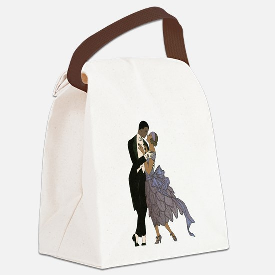 Vintage Love and Romance Canvas Lunch Bag