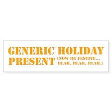 Generic Holiday Bumper Sticker