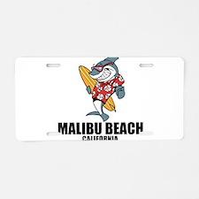 Malibu Beach, California Aluminum License Plate
