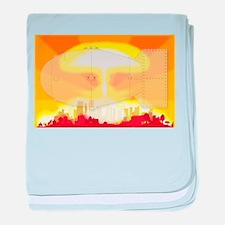 Atomic Bomb Blast baby blanket