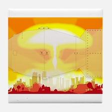 Atomic Bomb Blast Tile Coaster