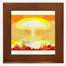 Atomic Bomb Blast Framed Tile