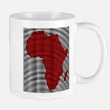 Drilled Plate Africa Map Mugs