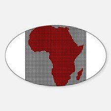 Drilled Plate Africa Map Stickers