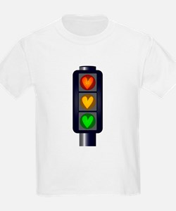 Love Heart Traffic Lights T-Shirt