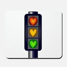Love Heart Traffic Lights Mousepad