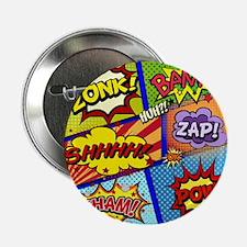 """Fun Comic Book Art 2.25"""" Button (100 pack)"""
