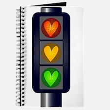 Love Heart Traffic Lights Journal