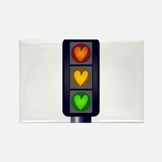 Love Heart Traffic Lights Magnets