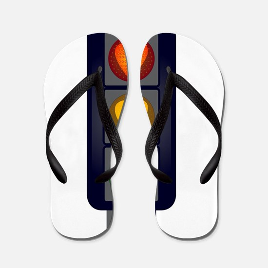 Love Heart Traffic Lights Flip Flops