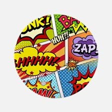"Colorful Comic 3.5"" Button (100 pack)"