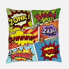 Colorful Comic Everyday Pillow
