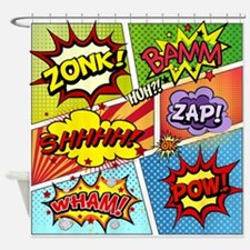 Colorful Comic Shower Curtain