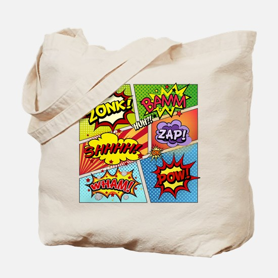 Colorful Comic Tote Bag