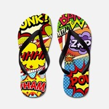 Colorful Comic Flip Flops