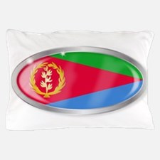 Eritrea Flag Oval Button Pillow Case