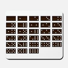 Wooden Dominoes Set Mousepad