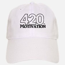 420 Motivation Black & White Logo Baseball Baseball Baseball Cap