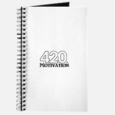 420 Motivation Black & White Logo Journal