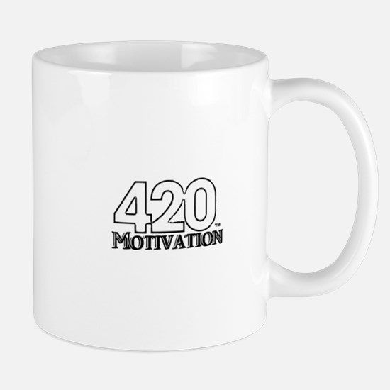 420 Motivation Black & White Logo Mugs