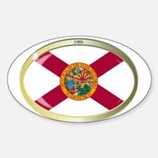 Florida State Flag Oval Button Decal