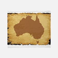 Australian Map Throw Blanket