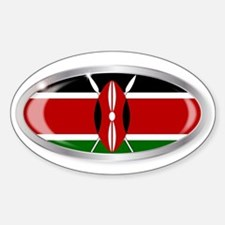 Kenya Flag Oval Button Decal