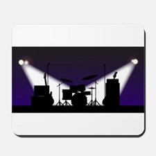 Rock Band Stage Equipent Mousepad