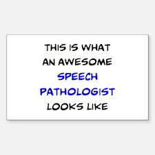 awesome speech pathologist Sticker (Rectangle)