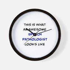 awesome speech pathologist Wall Clock