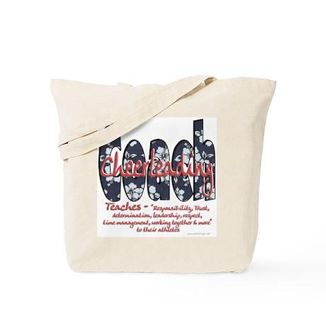 Cheer Coach Blue Floral Patte Tote Bag