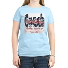 Cheer Coach Blue Floral Patte T-Shirt