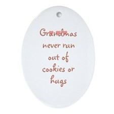 Grandmas never run out of coo Oval Ornament
