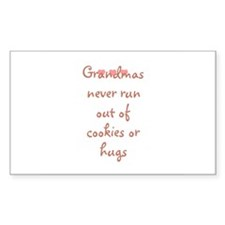 Grandmas never run out of coo Sticker (Rectangular