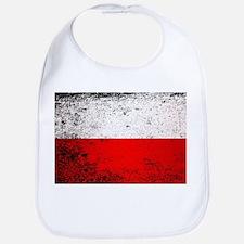Flag of Poland Grunge Bib