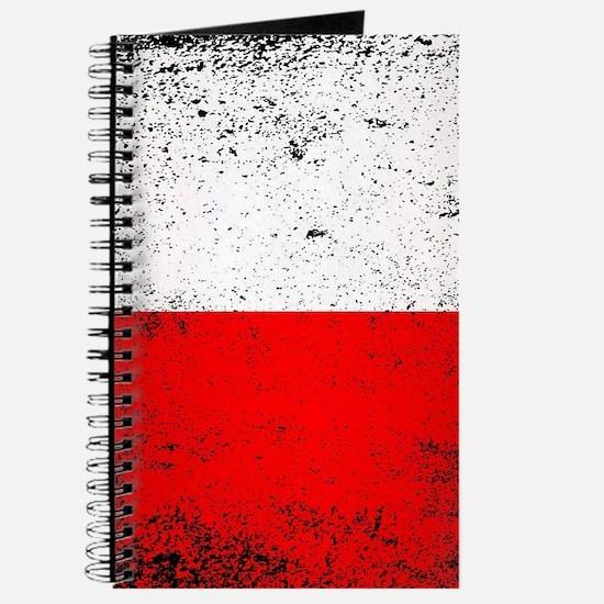 Flag of Poland Grunge Journal