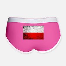 Flag of Poland Grunge Women's Boy Brief