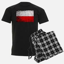 Flag of Poland Grunge Pajamas