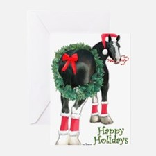 Christmas Shire Draft Horse Greeting Cards