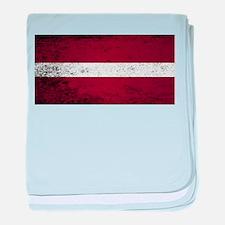 Flag of Latvia baby blanket