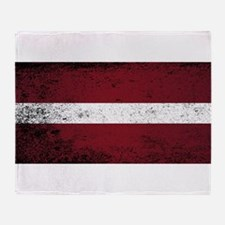 Flag of Latvia Throw Blanket
