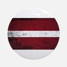 Flag of Latvia Round Ornament
